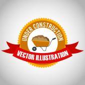 Construction design, vector illustration. — Stock Vector
