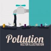 Pollution design, vector illustration. — Stock Vector