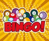 Bingo design, vector illustration. — Stock Vector