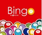 Bingo design, vector illustration. — Vector de stock
