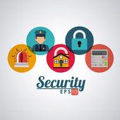 Security design, vector illustration. — Stock Vector