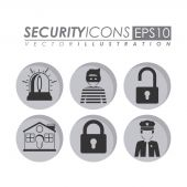 Security design, vector illustration. — Stockvektor