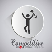 Competition design, vector illustration.  — ストックベクタ