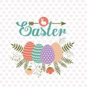 Happy easter card design, vector illustration. — Wektor stockowy