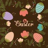Happy easter card design, vector illustration. — Stock Vector