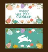 Happy easter card design, vector illustration. — Stock Vector