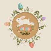 Happy easter card design, vector illustration. — Stockvektor