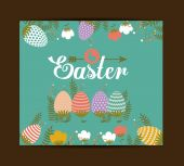 Happy easter card design, vector illustration. — Stockvector