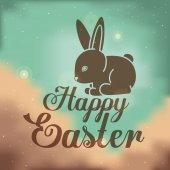 Glad påsk kortdesign, vektor illustration. — Stockvektor