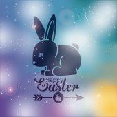 Happy easter card design, vector illustration. — Vector de stock