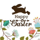 Happy easter card design, vector illustration. — Vettoriale Stock