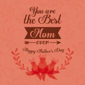Happy mothers day card design, vector illustration. — Stock Vector