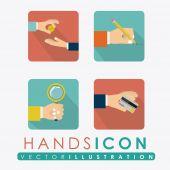 Hands design, vector illustration. — Stock Vector