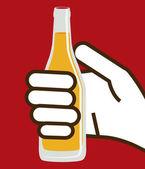 Bira tasarım, vektör çizim. — Stok Vektör