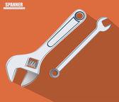 Tools design, vector illustration. — Vector de stock