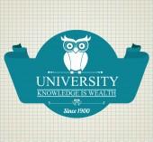 University design, vector illustration. — 图库矢量图片