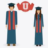 University design, vector illustration. — Stock Vector
