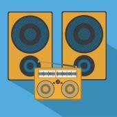 Music design, vector illustration. — Stock Vector