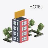 Hotel sevice, desing, vector illustration — Stock Vector