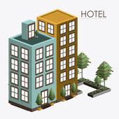 Hotel sevice, desing, vector illustration — Vetor de Stock