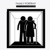 Family portrait, desing, vector illustration. — Stock Vector
