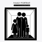 Family portrait, desing, vector illustration. — Cтоковый вектор