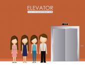 Elevator, up, down, desing over, vector illustration. — Stockvector