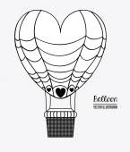 Air balloon, desing, vector illustration. — Stock Vector