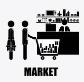 Supermaket, desing, vector illustration. — Vector de stock