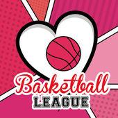 Basketball, desing, vector illustration. — Stock Vector