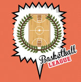 Basketball, desing, vector illustration. — Stock Vector