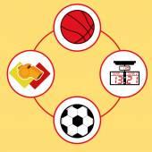 Soccer desing vector illustration — Stock Vector