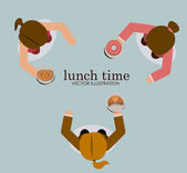 Lunch time desing vector illustration. — Stock Vector