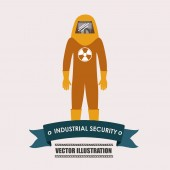 Industrial security desing vector illustration. — Stock Vector