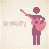 Serenading vector — Stock Vector