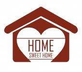 Sweet home design, vector illustration. — Vector de stock