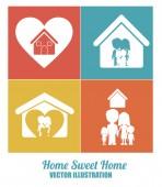 Sweet home design, vector illustration. — Stock Vector