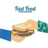 Fast Food design, vector illustration. — Stok Vektör