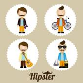 Hipster design, vector illustration. — Stock Vector
