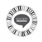 Society Design — Stock Vector