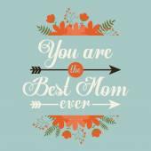 Happy mothers day card design, vector illustration. — ストックベクタ