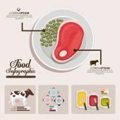 Food infographic design — Vettoriale Stock