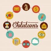 Diseño de soluciones — Vector de stock
