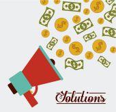 Solutions design — Stock Vector