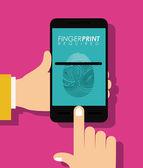 FingerPrint design — Stock Vector