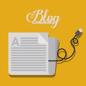 Design blog — Vetor de Stock
