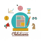 Solution icons design — Stock Vector
