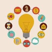 Solution icons design — Stok Vektör