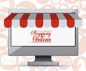 Lo shopping di design online — Vettoriale Stock