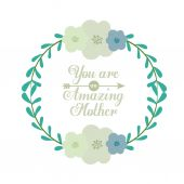 Happy Mothers day design — Stockvektor